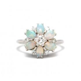 Opal and diamond GRAFF ring