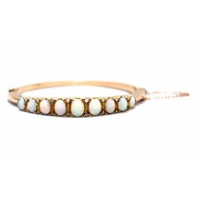 Opal and diamond Bangle
