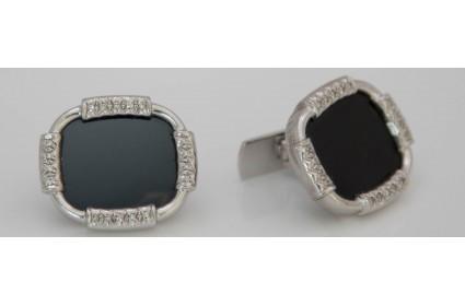 Black Onyx and Diamond Cufflinks
