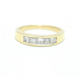 Princess cut Five Stone Diamond Ring