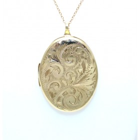 Large 9ct Yellow Gold Oval Locket