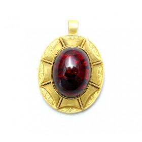Large Garnet Pendant/ Brooch