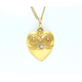 15ct Gold Heart Pendant