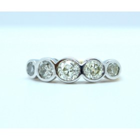 Five round brilliant cut diamonds