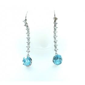 Zircon and diamond Drop Earrings