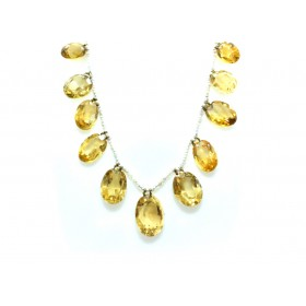 Citrine and Seed pearl necklace