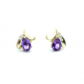 Amethyst Cluster Earrings 9ct gold
