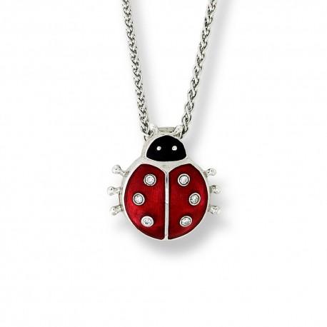 Enamel Ladybird Sterling Silver Pendant