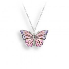 Plique-a-Jour Butterfly Pendant