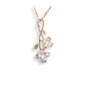 Floral Akoya Pearl Pendant