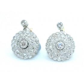 Edwardian Diamond Cluster Earings