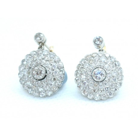 Edwardian Diamond Cluster Earings