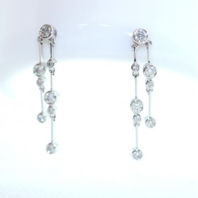 Rain-dance diamond drop earrings
