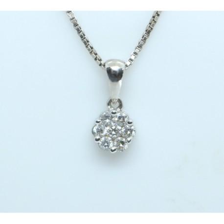 Diamond Daisy Pendant