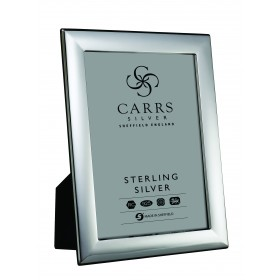 Plain Sterling Silver Photo Frame With Black Wood Back 7x5