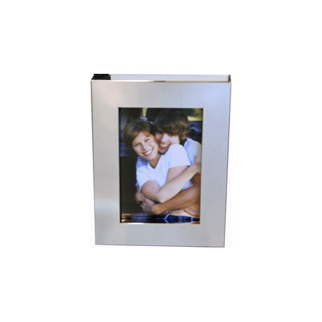 Photo Frame Silver Plated Steel With Deep Recess