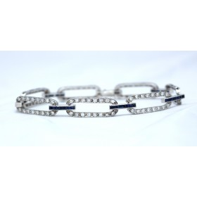 Art Deco Style Sapphire and Diamond Bracelet