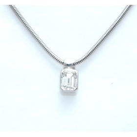 Emerald cut Solitaire Pendant