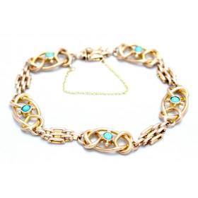 Turquoise set god bracelet