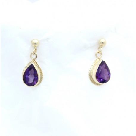 Amethyst Gold earrings