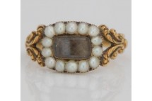 Ornate Pearl Mourning Ring