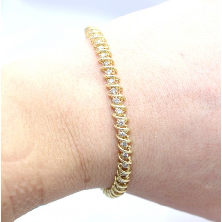 Diamond Bracelet set in 9ct yellow gold
