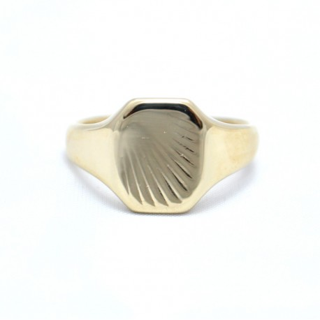 9ct gold square signet ring