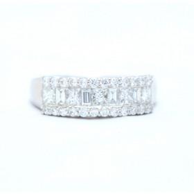 Half eternity diamond ring