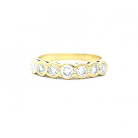 Seven stone diamond ring