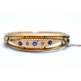 Gem set Edwardian bangle