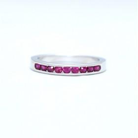 Half eternity ruby ring