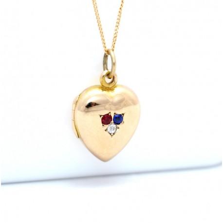 Gem-set Gold locket