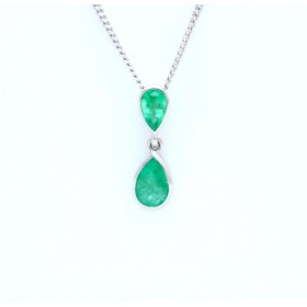 Emerald drop pendant