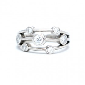 Diamond rain dance ring