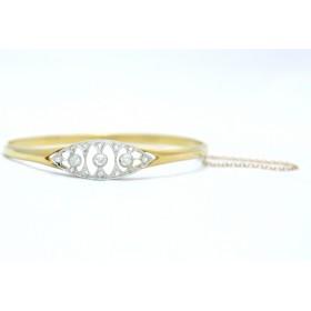 Edwardian diamond bangle