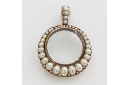 Pearl and Glass Pendant