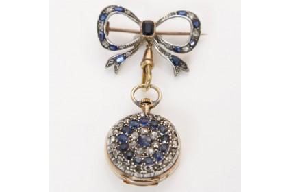 Sapphire and Diamond Fob Watch