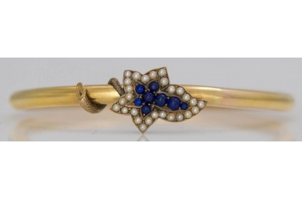 Pearl and Lapiz Lazuli Bangle
