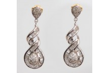 Figure of Eight Diamond Drop Earrings