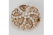 Decorative Pearl Brooch